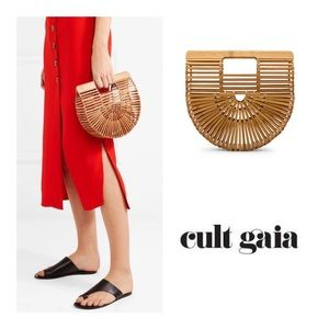 Cult Gaia the Ark mini bag in natural bamboo